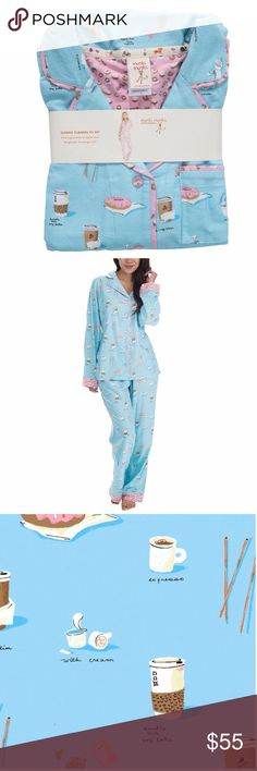 Munki Munki Classic Flannel PJ Set - Latte Great Christmas Gift * Whimsical prints on classic button down cut from cozy cotton flannel. Contrast piping, cuffs and chest pocket detail. Pants have elastic waistband with drawstring and contrast printed pocket trim and cuffs. Pant cuffs feature easy length adjustment with snaps * Brand New * Offers and Bundles Welcomed * Smoke and Pet Free Home * Intimates & Sleepwear Pajamas