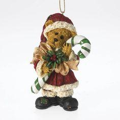 Boyds Santa Series Bearstone Holiday Ornament - Ol' Saint Sweetnick