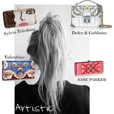 Artistic 2015 by twentyonepercent21 on Polyvore featuring Dolce&Gabbana, Sylvia Toledano, Valentino and Edie Parker