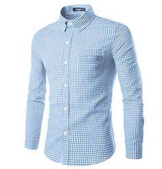 Massive discount J. Lindeberg Daniel Season Stretch Cotton Patterned Shirt H883449 - Off White - Men's Casual Shirts