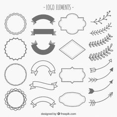 adornos dibujados a mano de logotipos