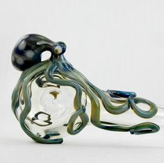 Glass Pipe Octopus Spoon Medium Hand Blown Thick Wall. $50.00, via Etsy.