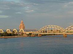 Letonia, Riga, Daugava, Puente