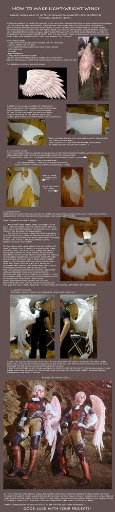 Tutorial: How to make light-weight wings (Kamael) - COSPLAY IS BAEEE! Tap the pin now to grab yourself some BAE Cosplay leggings and shirts! From super hero fitness leggings, super hero fitness shirts, and so much more that wil make you say YASSS! Diy Halloween, Halloween Cosplay, Halloween Costumes, Superhero Halloween, Female Superhero, Pirate Costumes, Halloween Makeup, Tutorial Cosplay, Cosplay Diy