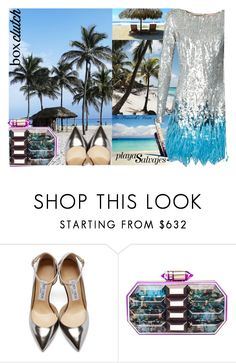 """""""Box Clutch Contest"""" by fra3 ❤ liked on Polyvore featuring Lonely Planet, Jimmy Choo, Lolita Lorenzo, Matthew Williamson, women's clothing, women's fashion, women, female, woman and misses"""