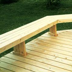 Deck Bench Seating, Deck Ideas With Benches, Simple Deck Ideas, Patio Bench, Conquistador, Landscaping Around Deck, Outdoor Deck Decorating, Platform Deck, Patio Deck Designs