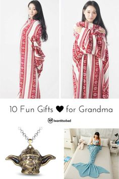 10 fun gifts for Grandma. Make her day, great for Mother's Day too!