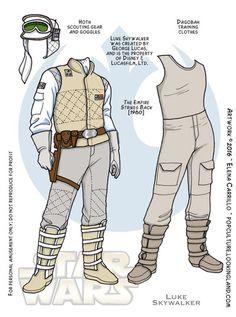 Star Wars paper dolls Luke Skywalker