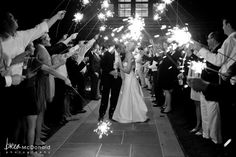 Just like a black & white photo, the sparkler exit never goes out of style!