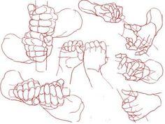 "Anatomy Reference deviantart: A great hand study! polskiskiski: Hands holding weapons - deviantart: "" A great hand study! Anatomy Drawing, Manga Drawing, Figure Drawing, Life Drawing, Hand Drawing Reference, Art Reference Poses, Sword Reference, Anatomy Reference, Anime Hand"