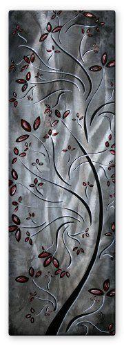 8X24 Megan Duncanson 'Silver Tree' abstract metal wall art, modern home decor, metal wall sculpture, abstract wall art by Ash Carl, http://www.amazon.com/dp/B0042OYUHE/ref=cm_sw_r_pi_dp_KNnIpb0XZSMNA