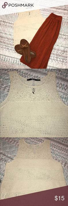 Kensie crochet top Excellent condition crotchet top by Kensie. Screams festivals, concerts and hippie vibes. Kensie Tops Tank Tops