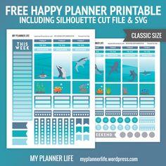 myplannerlife-freeprintable-SharkWeek I like the idea of a series of panel stickers like this but more like an aquarium