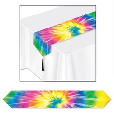 Value 3-Pack/_ Tie-Dyed Tablecover Party Accessory