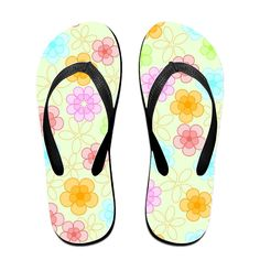 Magic Flowers Flip Flops Beach Slippers >>> Read more reviews of the product by visiting the link on the image.