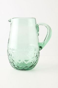 This soda-lime glass pitcher would match my vintage glass fruit canning jars. I can imagine filling this pitcher with strawberry lemonade, or iced lychee green tea, and sipping a glass out in the backyard patio, soaking up the LA sun.
