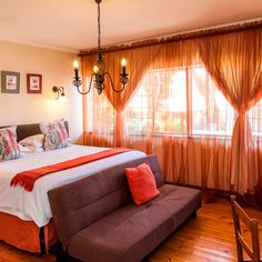 Room 6 has a luxurious king bed and the en-suite bathroom has a shower and Victorian bath. Victorian Bath, Have A Shower, King Beds, Awards, Curtains, Bathroom, Luxury, Home Decor, Washroom