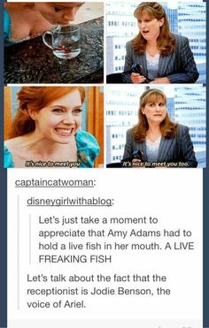 Live fish and Ariel. Lol