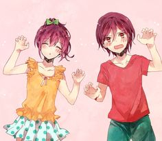 e-shuushuu kawaii and moe anime image board Anime Siblings, Anime Child, Anime Couples, Cute Couples, Otaku, Anime Guys, Manga Anime, Rin Matsuoka, Swimming Anime