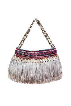 silver fringe ethnic bag by elliot mann I am in love!