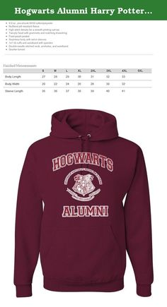 Hogwarts Alumni Harry Potter Unisex Hooded Sweatshirt Fashion Hoodie ( Maroon , Small ). Exclusive Wild Bobby® brand Hooded Sweatshirts made with a cotton poly blend. All shirts printed here in the USA . Recommended to wash in cold water, inside out. Many of our designs are available in hoodies, crewnecks, men's, women's, and youth sizes and come in a variety of different colors. Check our store to see them all!.