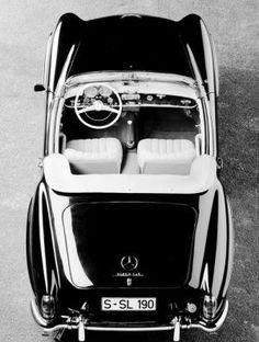 vintage black and white car