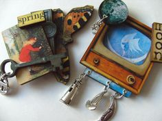 Man on the Moon The secret garden choose BROOCH by NewellsJewels, £8.25