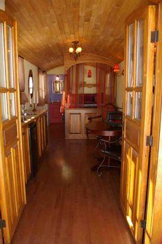 gypsy vardo interior... great post on tiny house blog