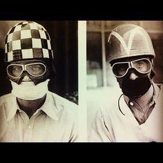 vintage euro crash helmets