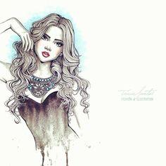 Necklace Design & Fashion Illustration by Tania Santos