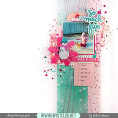 Still got lots of the #hkcexclusives in your #november2016 #hipkits? Designer @terhi_koskinen shares a gorgeous layout using mostly all #exclusives!! @hipkitclub #hipkitexclusives #hipkitclub #mixedmedia #ephemera #layers #kitclub #papercrafting #winter #snow #scrapbookingkitclub @cratepaper #snowandcocoa