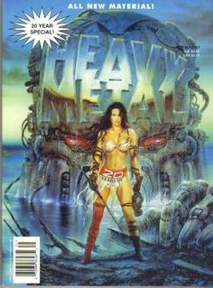 Heavy Metal 20 Year Special, Volume 11 , Number 2, Fall 1997 by Kevin Eastman, http://www.amazon.com/dp/B007KQDSDS/ref=cm_sw_r_pi_dp_-NtFrb1768CTF