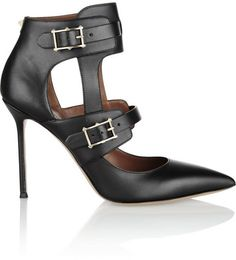 Valentino Hitch On cutout leather pumps on shopstyle.com