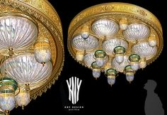 Mosque Crystal Ceiling Light - Decorative Lighting for Mosque designed and manufactured by KNY Design Austria www.kny-design.com