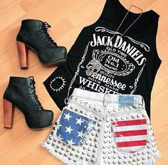 White trash party...outfit idea for me...minus the shoes
