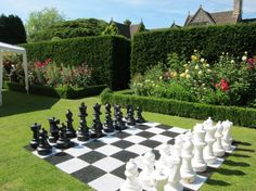 Giant outdoor chess board.  I think I'm going to sneak one of these in by the citrus trees.