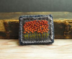 Autumn Field Hand Embroidered Brooch