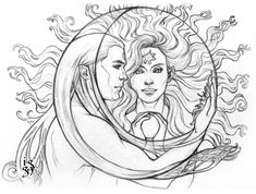 Arien and Tilion - How the moon loves the sun by Ingvild-S on DeviantArt