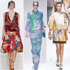 From Marni's signature brightly hued quirk to Gucci's watercolor masterpiece, to Fendi's abstract digital prints, the pattern lover in us all will be very pleased with what Milan has to offer.  From left to right: Marni, Gucci, Fendi