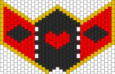 Queen Of Hearts Type Mask Thing Bead Pattern