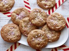 White Chocolate Peppermint Cookies from CookingChannelTV.com