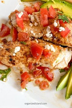 Baja chicken with tomatoes - delicious and so easy. Ready in about 30 minutes too!