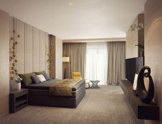 Modern bedroom visualization by Alexandra Fedorova