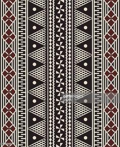 Vector Art : Fijian tapa pattern