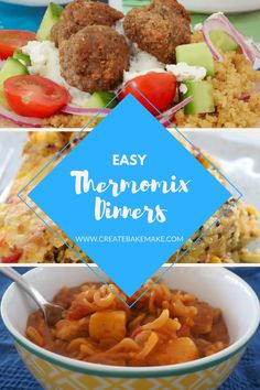 Easy Thermomix Dinners - this collection of Thermomix dinner recipes has something for everyone and most of the recipes can also be frozen too. #thermomix #thermomixrecipes #thermomixdinners #thermomixdinnerrecipes #easythermomixrecipes #easydinners #dinnerideas