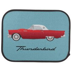 1957 Thunderbird Car Floor Mat