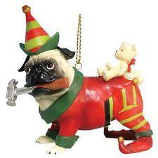 Christmas tree ornaments, Pug and Christmas trees on Pinterest