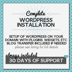 Complete Wordpress Installation Blog Transfer by MoonsteamDesign