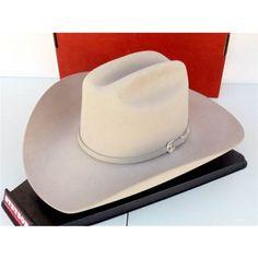 4a729a4f90c Stetson Cowboy Hat 6X Beaver Felt Silverton Silverbelly