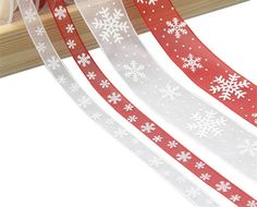 Best Chance of Red White Snowflake Organza Ribbon DIY Bownot Gift Wrapping Party Christmas Decoration For Home Ribbons For Gift Packaging Christmas Ribbon, Christmas Snowflakes, Kids Christmas, Ribbon Decorations, Christmas Decorations, Gift Ribbon, Ribbon Diy, Kids Gift Bags, Cheap Ribbon
